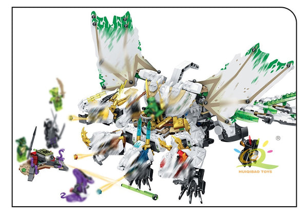 Ninjagoed Ultra Dragon Building Blocks Compatible mini Ninjaed Jay Figures Bricks set For Children boy