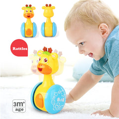 Baby Rattles Tumbler Doll Baby Toys Sweet Bell Music Roly-poly Learning Education
