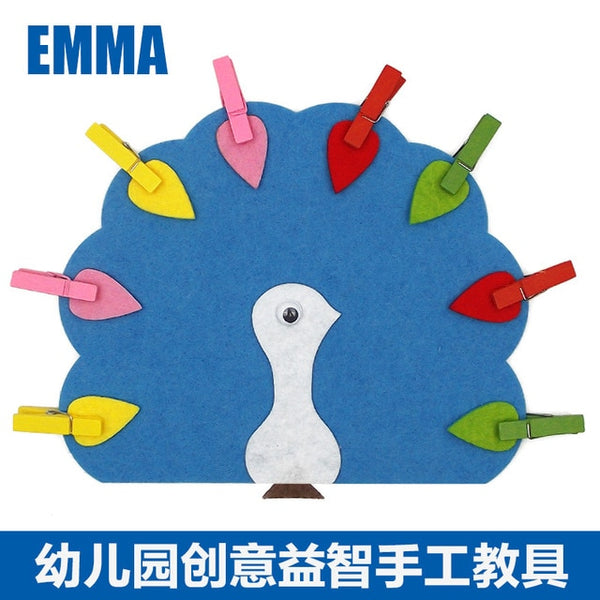 Teaching Manual Diy Weave cloth Early Learning Education Toys