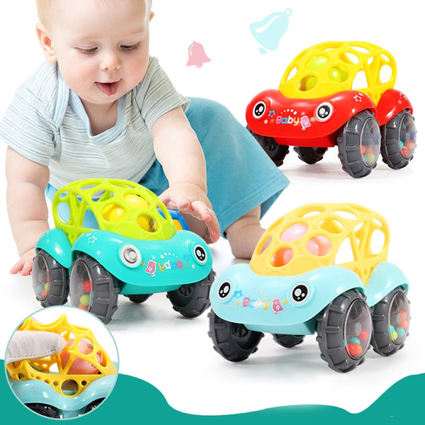 Baby Plastic Non-toxic Colorful Animals Hand Jingle Shaking Bell Car Rattles Toys