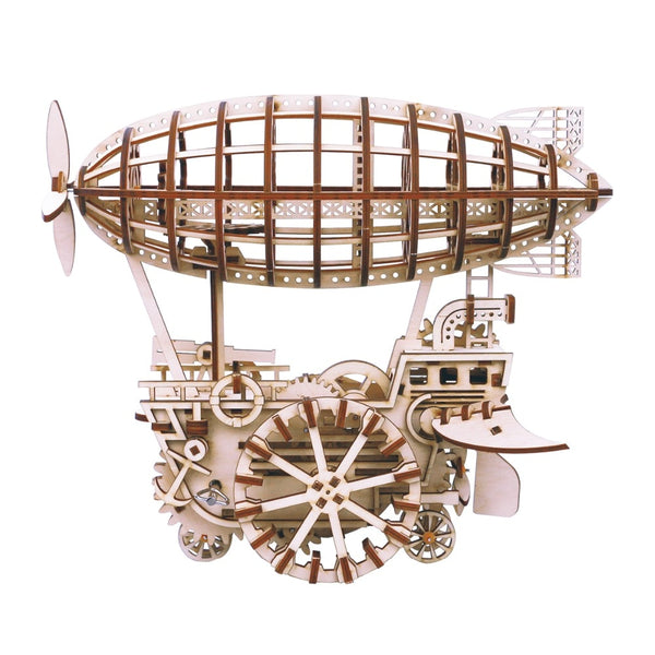 Moveable Airship Gear Drive by Clockwork 3D Wooden Model Building Kits