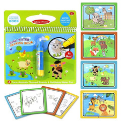 Magic Water Drawing Book Writing Doodle Book Coloring Board For Children Painting Mat