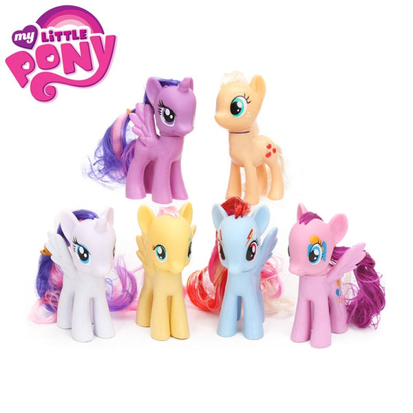 Friendship is Magic Rainbow Dash Twilight Sparkle Pinkie Pie Rarity PVC Action Figures Dolls