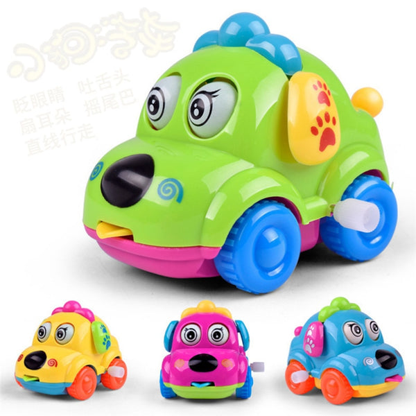 Children Clockwork Funny Wind Up Toys Cartoon Puppy Tongue Clockwork Car