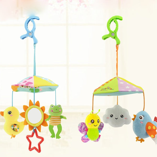 Baby Stroller Crib Pram Bed Hanging Toy Accessories Musical Rotating Plush Cartoon Cute Appease