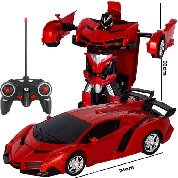 2 in 1 RC Car Driving Sports Cars drive Transformation Robots Models Remote Control Car