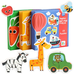 Kids Baby Wooden Wood Animal Cognition Puzzle