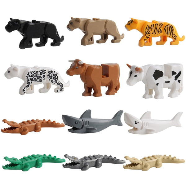 Animal Series Model Figures Big Building Blocks