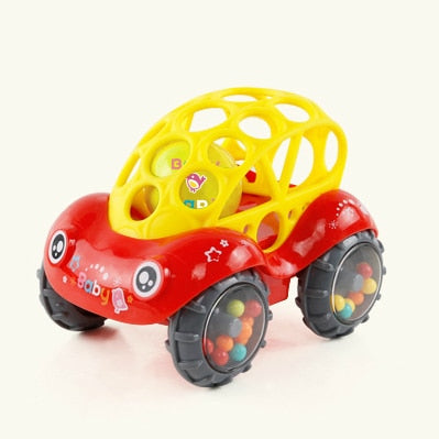 Baby Car Doll Toy  Crib Mobile Bell Rings Grip  Gutta Percha Hand Catching Ball