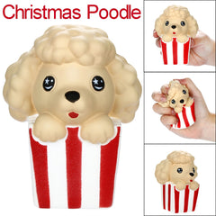 Cute Christmas Poodle Funny Slow Rising Fruits Scented Squishy Stress Relief Toy