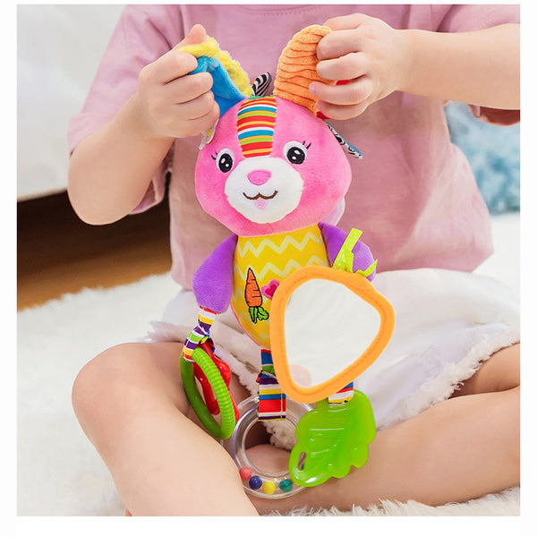 Cute Animal Doll Baby Crib Bed Hanging Bells Toys
