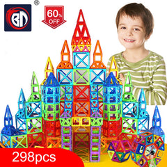 Designer Construction 100-298pcs Blocks Set Model & Building Plastic Magnetic Blocks