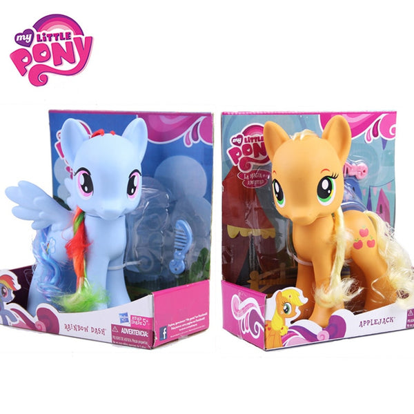 Apple Jack Rainbow Dash Princess Celestia Action Figure Collection Model Doll For Kids