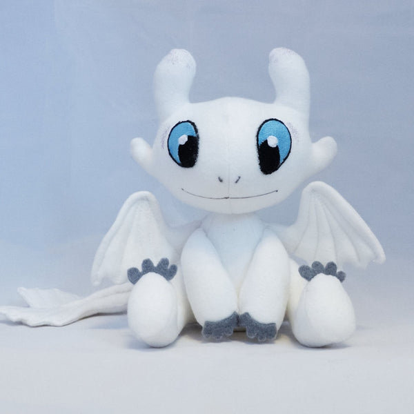 How to Train Your Dragon 3 Plush Toy Light Fury Soft White Dragon Stuffed Doll