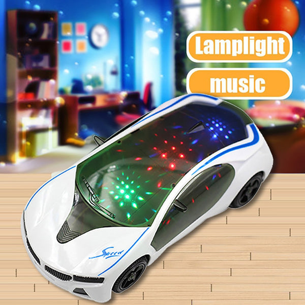 3D Supercar Style Electric car Toy With Wheel Lights & Music