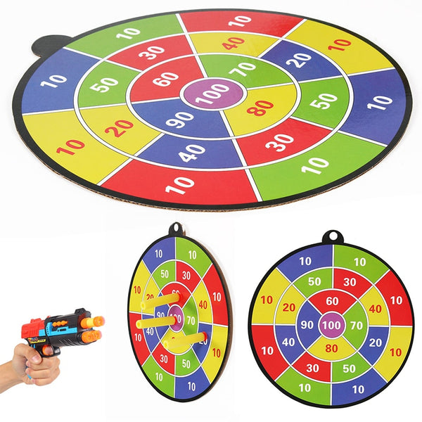 Sucked Type Dart Board Kids Bullet Ball Target Game