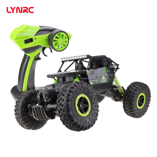 Lynrc RC Car 4WD 2.4GHz climbing Car 4x4 Double Motors Bigfoot Car