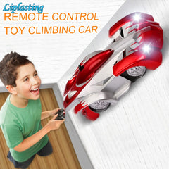 360 Degree Rotating Remote Control Wall Climbing RC Car with LED Lights