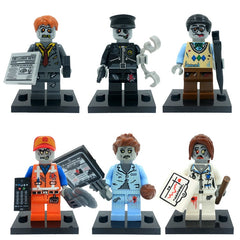 ZOMBIE WORLD Skeleton Monster City Figure Set Ghosts Dog Walking Dead Model Building Blocks