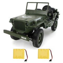 Remote Control Light Jeep Four-Wheel Drive Off-Road Military Climbing Car