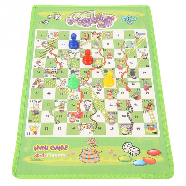 Snake Ladder Educational Kids Children Toys Interesting Board Game Set