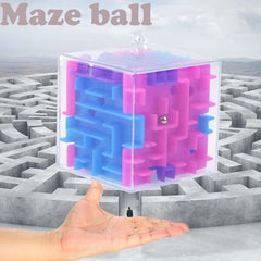 3D Cube Puzzle Maze Toy Hand Game Case Box