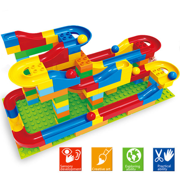 Funnel Slide Marble Race Track Building Blocks