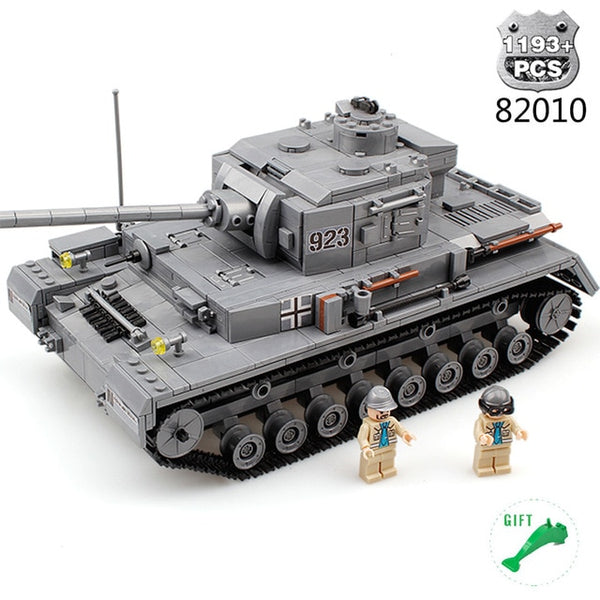 Military Series German WW2 Tank F2 Building Blocks Toys For Children