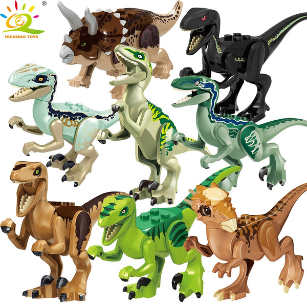 Dinosaur park Rex Blue figure Building Blocks for Children