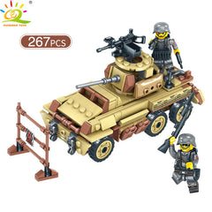 Army WW2 Combat Troops Building Blocks Compatible Military Trucks helicopter Tank Bricks For Children Boy