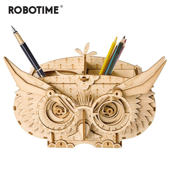 Robotime 10 Kinds DIY 3D Wooden Animal&Building Puzzle Game