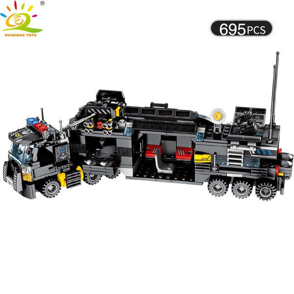 Military command Truck SWAT Soldiers Building Blocks For Children