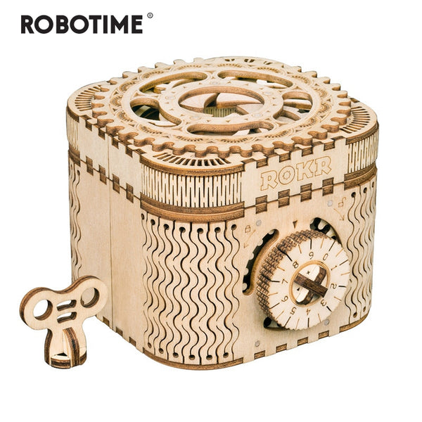 Creative DIY 3D Treasure Box&Calendar Wooden Puzzle Game