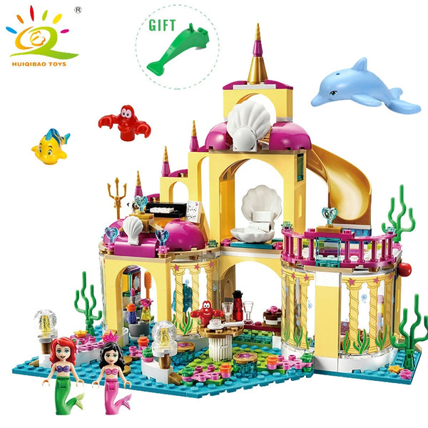 Ice Castle Princess Anna Ariel Building Blocks Compatible legoingly friend for girl