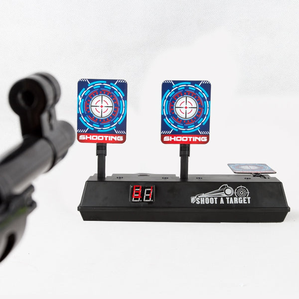 New DIY Electric Scoring Auto Reset Target For Nerf Gun Outdoor Fun Sport Toy