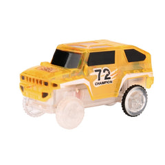 Electronics Special Car for Magic Track Toys With Flashing Lights