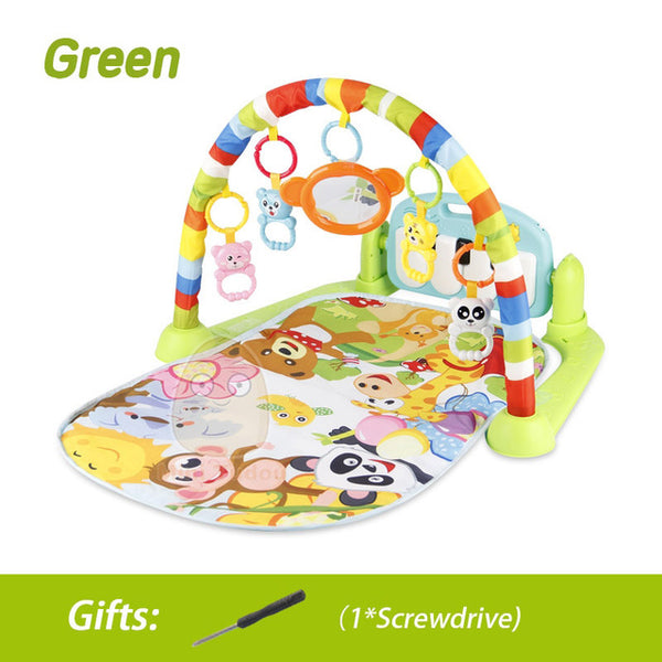 Educational Puzzle Carpet With Piano Keyboard And Cute Animal Playmat Baby Gym Crawling Activity Mat