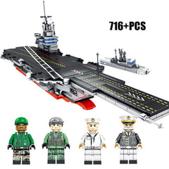 Military Army WW2 ship Building Blocks Toys For Children Compatible Warship Navy