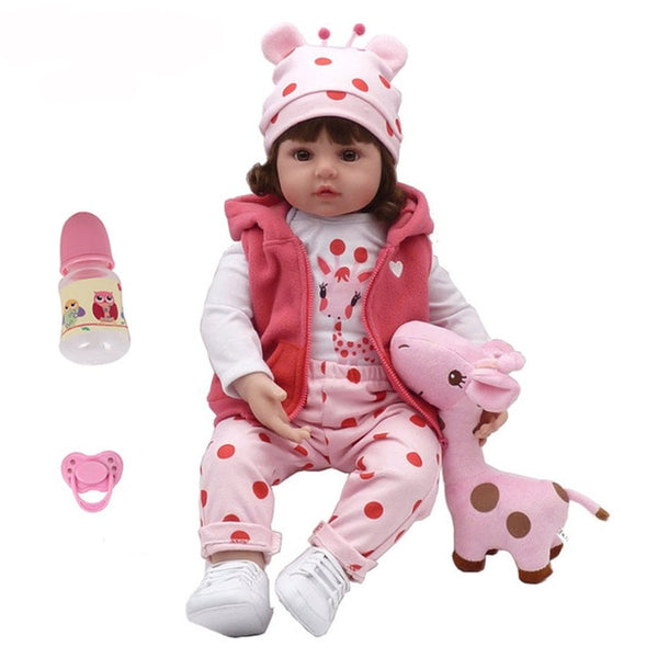 Baby Reborn Doll Latest New Silicone Boneca Adorable menina Lovely kids Doll