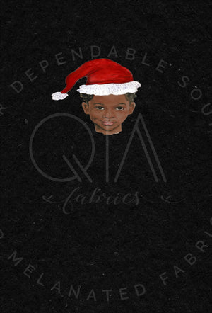 Santa Hat Child Panel on Black RETAIL