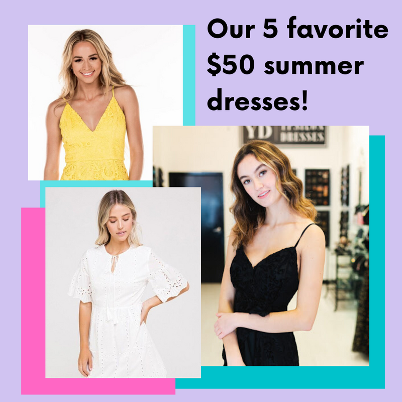 Our 5 Favorite $50 Dresses