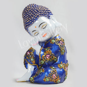 Ceramic Pressed Blue Stone Work Buddha