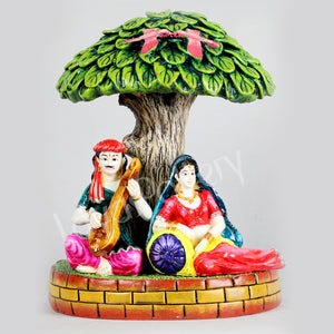 Marble Dust Musical Pair Under Tree