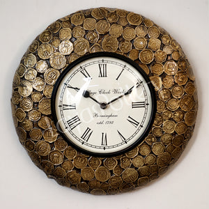 Metallic Coin Clock