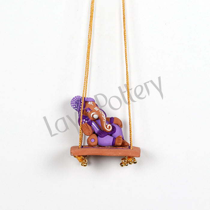 Terracotta Ganesh Idol on Swing