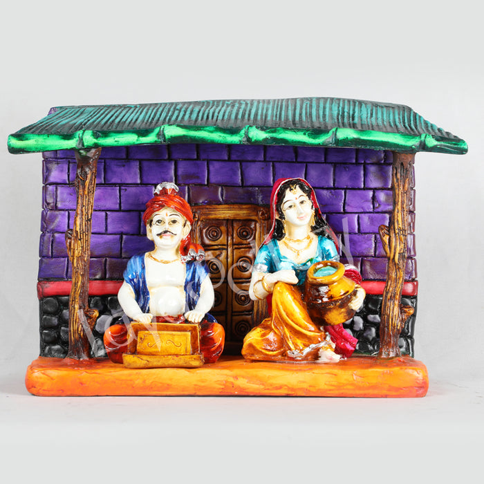 Marble Dust Musical Pair Under Hut Violet Wall