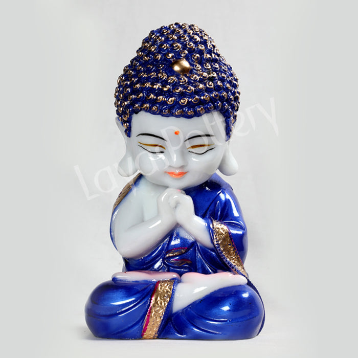 Ceramic Pressed Blue  Plain Buddha