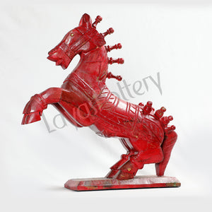 Wooden Big Red Horse
