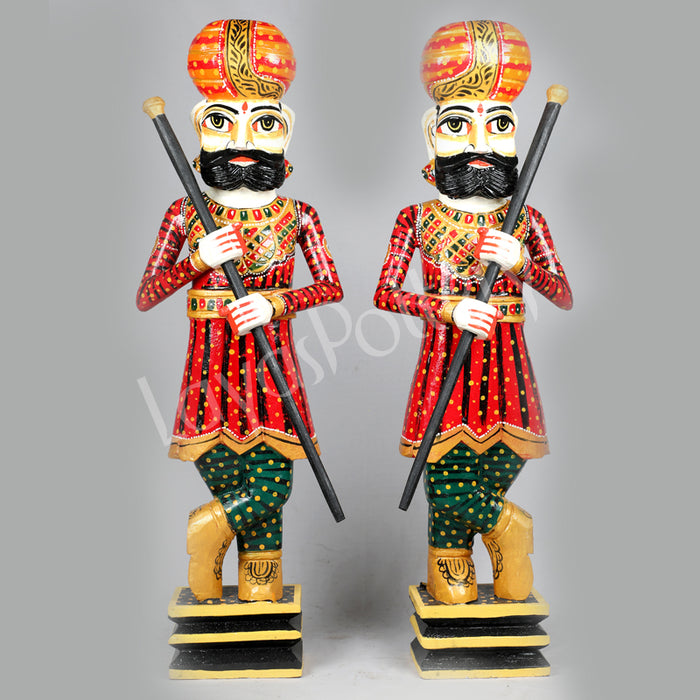 Wooden Soldier darbaans or gatekeepers -Set 2 -Large