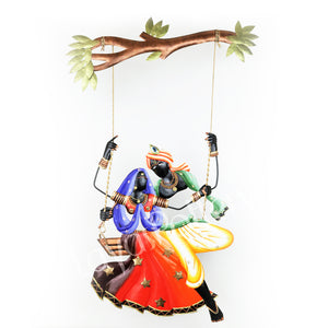 Wrought Iron RadhaKrishna Medium